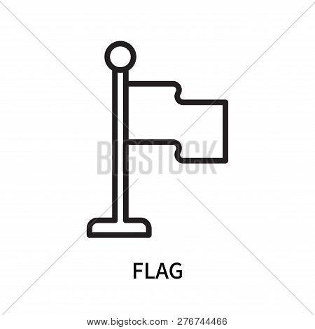 Flag Icon Isolated On White Background. Flag Icon Simple Sign. Flag Icon Trendy And Modern Symbol Fo