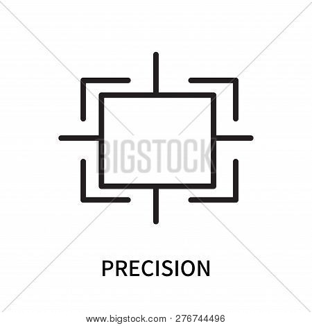 Precision Icon Isolated On White Background. Precision Icon Simple Sign. Precision Icon Trendy And M