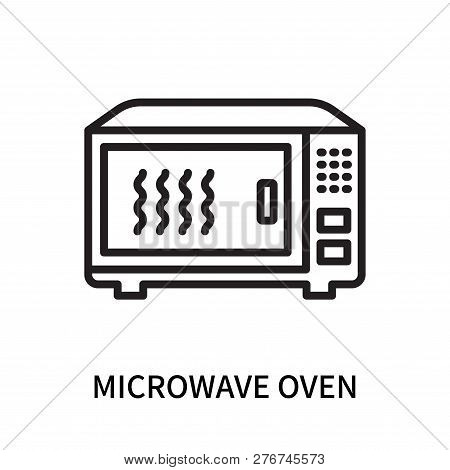 Microwave Oven Icon Isolated On White Background. Microwave Oven Icon Simple Sign. Microwave Oven Ic