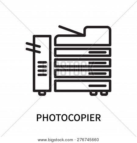 Photocopier Icon Isolated On White Background. Photocopier Icon Simple Sign. Photocopier Icon Trendy
