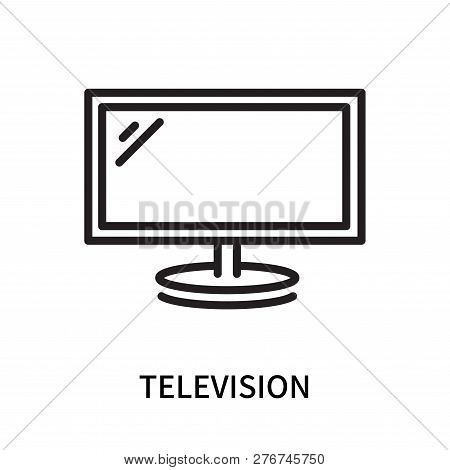 Television Icon Isolated On White Background. Television Icon Simple Sign. Television Icon Trendy An