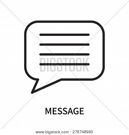 Message Icon Isolated On White Background. Message Icon Simple Sign. Message Icon Trendy And Modern