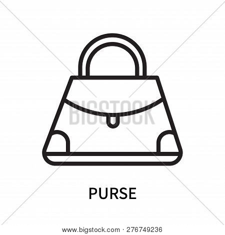 Purse Icon Isolated On White Background. Purse Icon Simple Sign. Purse Icon Trendy And Modern Symbol