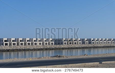 Dubai, Uae - Oct 14, 2018: House Under Construction In Dubai. Real Estate Development Is An Importan