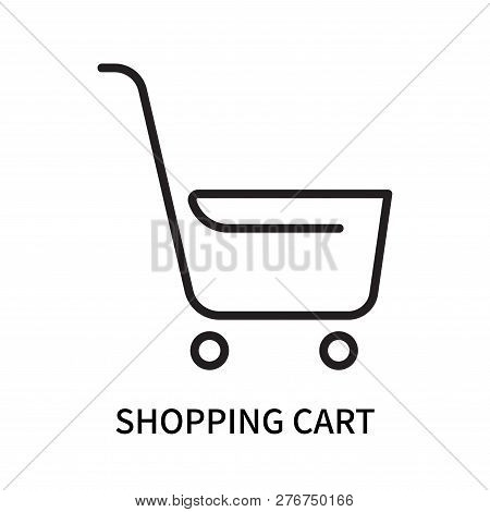Shopping Cart Icon Isolated On White Background. Shopping Cart Icon Simple Sign. Shopping Cart Icon