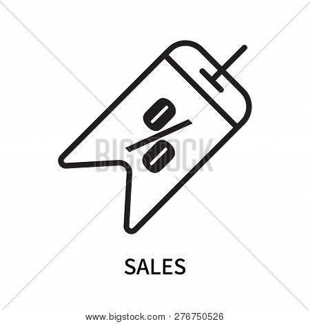 Sales Icon Isolated On White Background. Sales Icon Simple Sign. Sales Icon Trendy And Modern Symbol