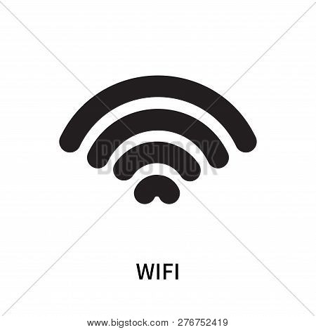 Wifi Icon Isolated On White Background. Wifi Icon Simple Sign. Wifi Icon Trendy And Modern Symbol Fo