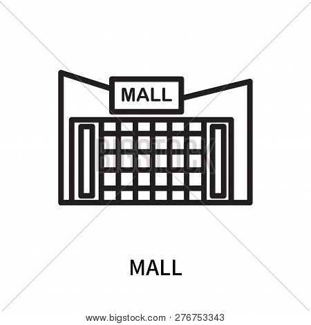 Mall Icon Isolated On White Background. Mall Icon Simple Sign. Mall Icon Trendy And Modern Symbol Fo