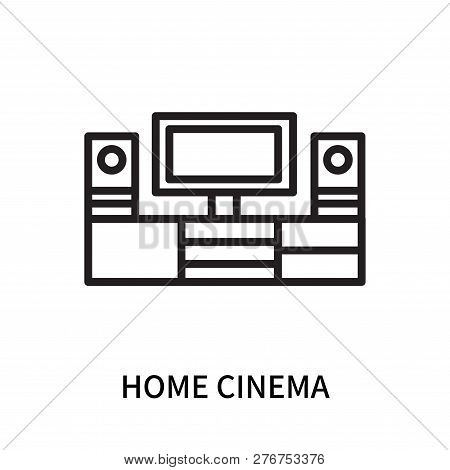 Home Cinema Icon Isolated On White Background. Home Cinema Icon Simple Sign. Home Cinema Icon Trendy