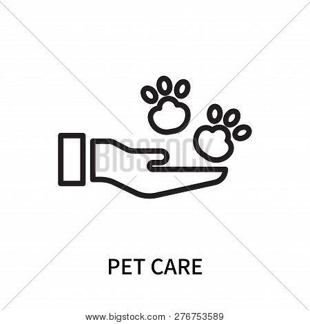 Pet Care Icon Isolated On White Background. Pet Care Icon Simple Sign. Pet Care Icon Trendy And Mode