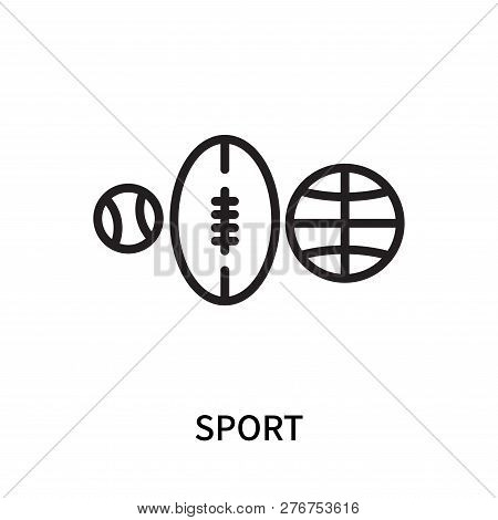 Sport Icon Isolated On White Background. Sport Icon Simple Sign. Sport Icon Trendy And Modern Symbol