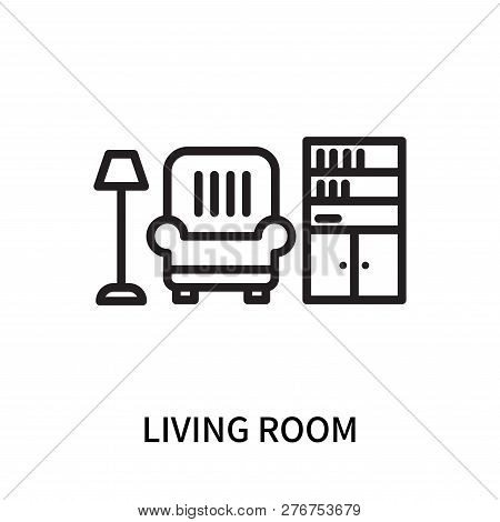 Living Room Icon Isolated On White Background. Living Room Icon Simple Sign. Living Room Icon Trendy