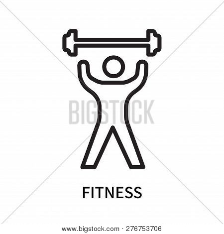 Fitness Icon Isolated On White Background. Fitness Icon Simple Sign. Fitness Icon Trendy And Modern