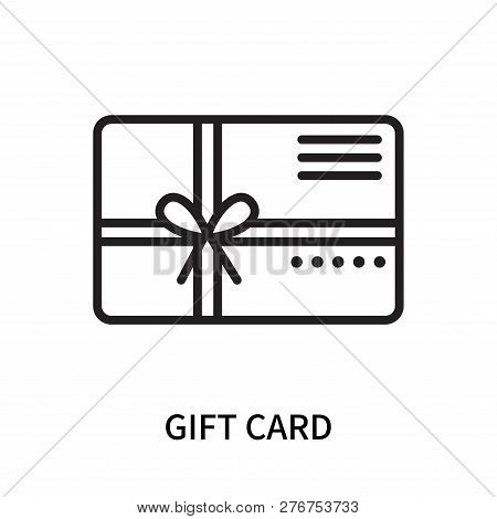 Gift Card Icon Isolated On White Background. Gift Card Icon Simple Sign. Gift Card Icon Trendy And M
