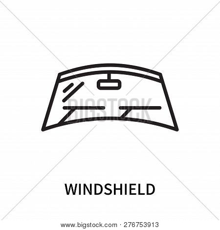Windshield Icon Isolated On White Background. Windshield Icon Simple Sign. Windshield Icon Trendy An