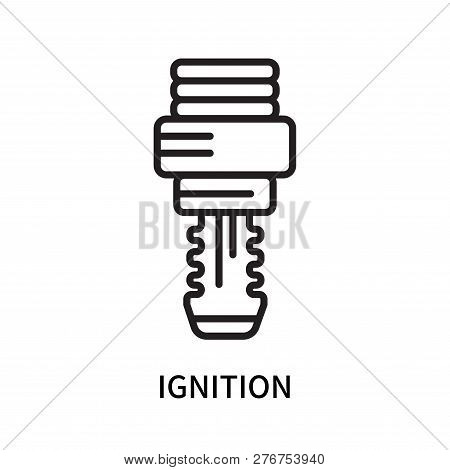 Ignition Icon Isolated On White Background. Ignition Icon Simple Sign. Ignition Icon Trendy And Mode