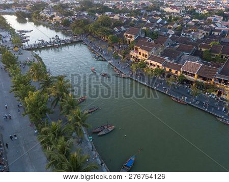 Aerial View Of Hoi An Old Town Or Hoian Ancient Town. Royalty High-quality Free Stock Photo Image Of