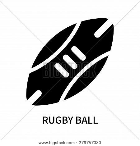 Rugby Ball Icon Isolated On White Background. Rugby Ball Icon Simple Sign. Rugby Ball Icon Trendy An