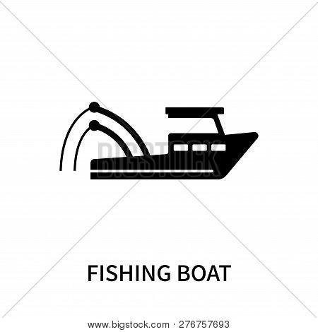 Fishing Boat Icon Isolated On White Background. Fishing Boat Icon Simple Sign. Fishing Boat Icon Tre