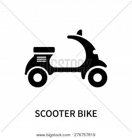 Scooter Bike Icon Isolated On White Background. Scooter Bike Icon Simple Sign. Scooter Bike Icon Tre