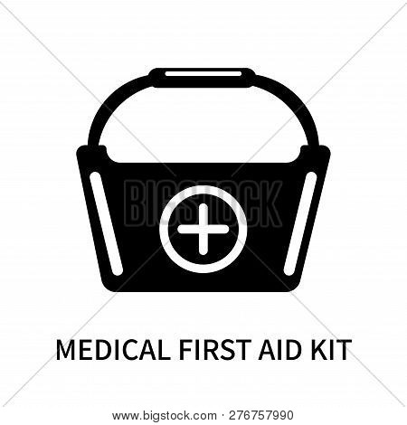 Medical First Aid Kit Icon Isolated On White Background. Medical First Aid Kit Icon Simple Sign. Med