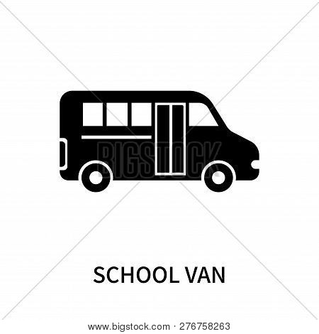 School Van Icon Isolated On White Background. School Van Icon Simple Sign. School Van Icon Trendy An