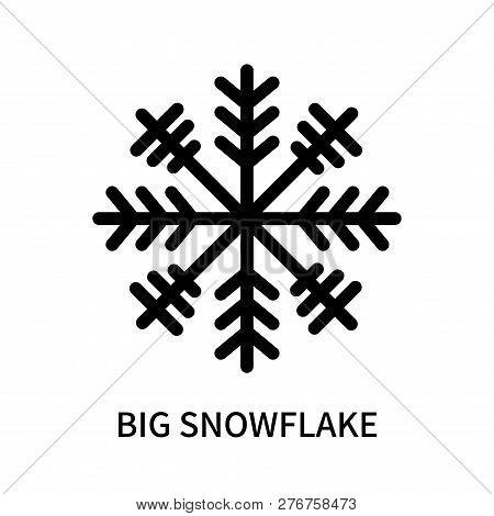 Big Snowflake Icon Isolated On White Background. Big Snowflake Icon Simple Sign. Big Snowflake Icon