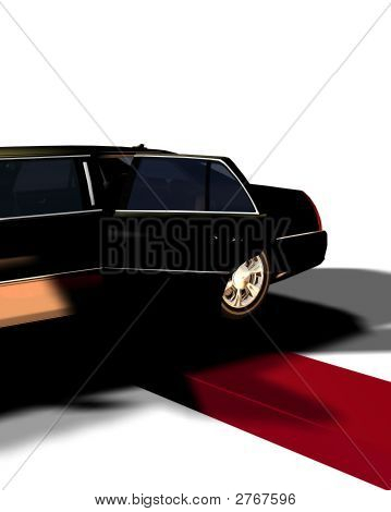 Limo With Red Carpet