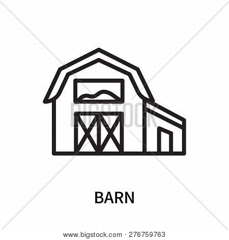 Barn Icon Isolated On White Background. Barn Icon Simple Sign. Barn Icon Trendy And Modern Symbol Fo