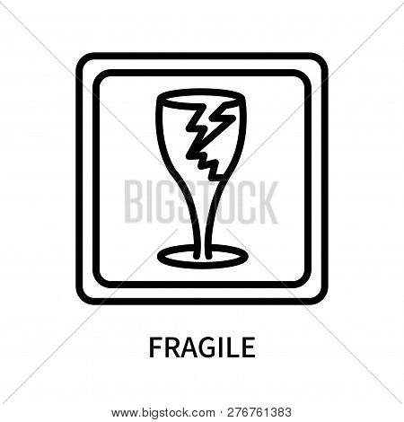 Fragile Icon Isolated On White Background. Fragile Icon Simple Sign. Fragile Icon Trendy And Modern