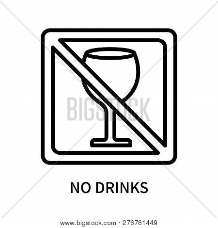 No Drinks Icon Isolated On White Background. No Drinks Icon Simple Sign. No Drinks Icon Trendy And M