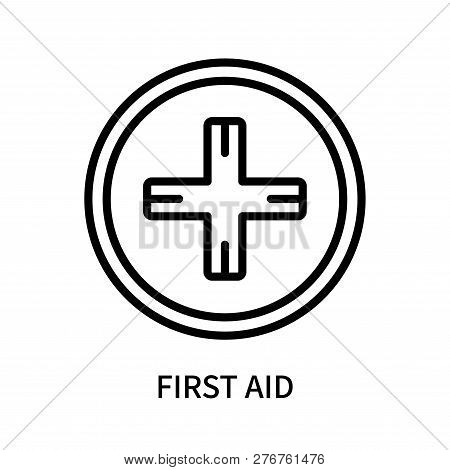 First Aid Icon Isolated On White Background. First Aid Icon Simple Sign. First Aid Icon Trendy And M