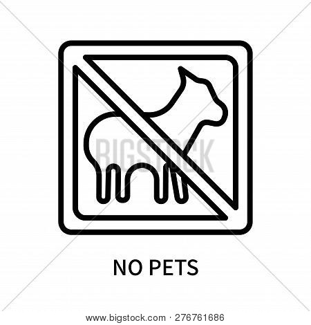 No Pets Icon Isolated On White Background. No Pets Icon Simple Sign. No Pets Icon Trendy And Modern
