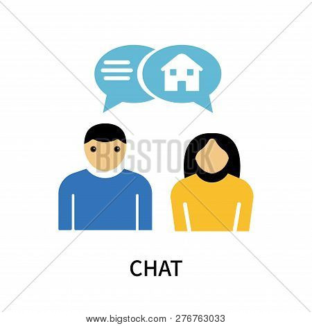Chat Icon Isolated On White Background. Chat Icon Simple Sign. Chat Icon Trendy And Modern Symbol Fo