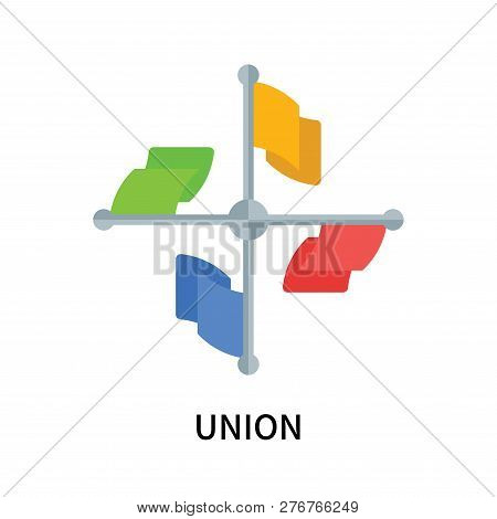 Union Icon Isolated On White Background. Union Icon Simple Sign. Union Icon Trendy And Modern Symbol