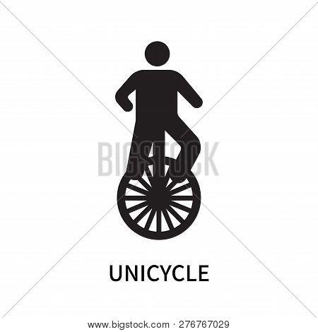 Unicycle Icon Isolated On White Background. Unicycle Icon Simple Sign. Unicycle Icon Trendy And Mode