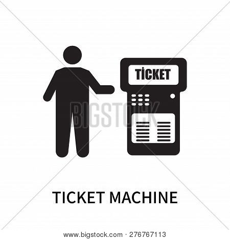 Ticket Machine Icon Isolated On White Background. Ticket Machine Icon Simple Sign. Ticket Machine Ic