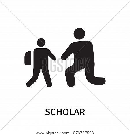 Scholar Icon Isolated On White Background. Scholar Icon Simple Sign. Scholar Icon Trendy And Modern