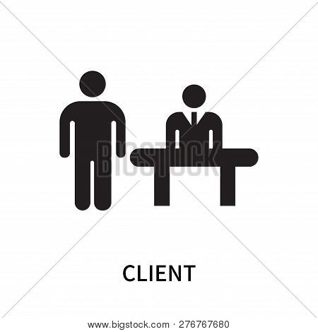 Client Icon Isolated On White Background. Client Icon Simple Sign. Client Icon Trendy And Modern Sym