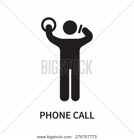 Phone Call Icon Isolated On White Background. Phone Call Icon Simple Sign. Phone Call Icon Trendy An