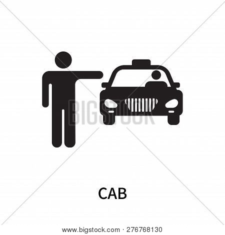 Cab Icon Isolated On White Background. Cab Icon Simple Sign. Cab Icon Trendy And Modern Symbol For G