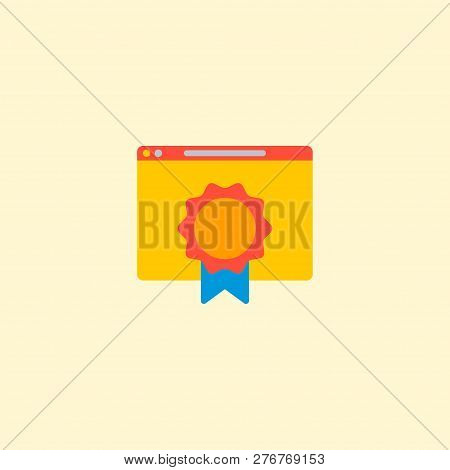 Best Quality Website Icon Flat Element. Vector Illustration Of Best Quality Website Icon Flat Isolat