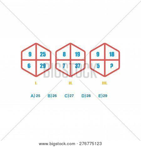 Choose Correct Answer. Iq Test. Logical Task, Educational Game For Students. Development Of Logic, I