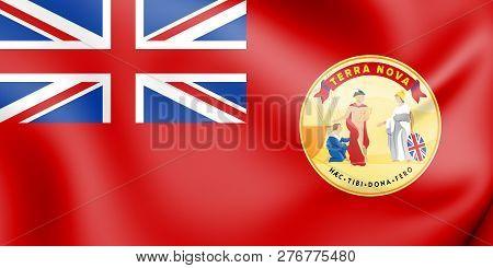 3d Civil Ensign Of Newfoundland (1918-1949), Canada. 3d Illustration.