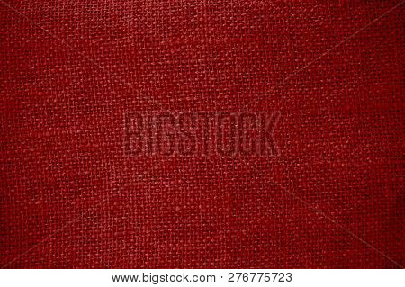 Rustic Natural Dark Red Cotton Background Texture