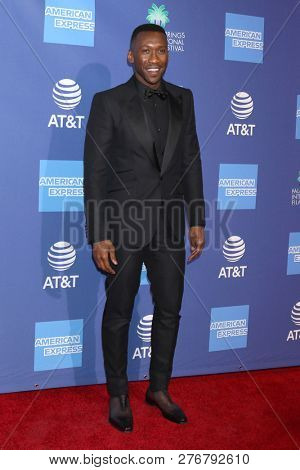 PALM SPRINGS - JAN 17:  Mahershala Ali at the 30th Palm Springs International Film Festival Awards Gala at the Palm Springs Convention Center on January 17, 2019 in Palm Springs, CA