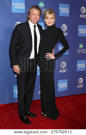 PALM SPRINGS - JAN 17:  Vince Van Patten, Eileen Davidson at the 30th Palm Springs International Film Festival Awards Gala at the Palm Springs Convention Center on January 17, 2019 in Palm Springs, CA