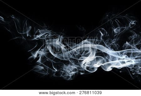 Abstract, Abstract Blue Smoke, Background , On Black Background ,art, Background, Black, Curve, Desi