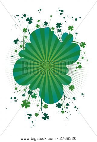 Four-Leafs Clover Background