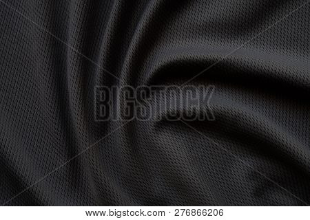 Fabric Texture, Close Up Background Of Black Fabric Or Abstract Black Fabric Texture Use For Web Des